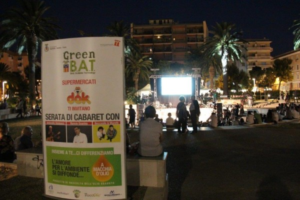 Organizzazione evento di cabaret Megamark – Greenbat 2013