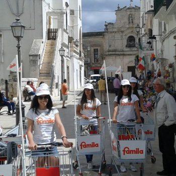 street marketing famila ostuni