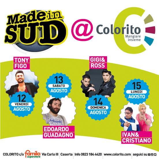 Organizzazione eventi Made in Sud @Colorito