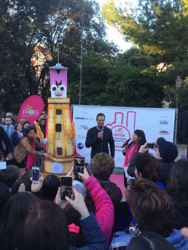 Premiazione Mascotte tappa Molfetta – Peschici Giro d'Italia