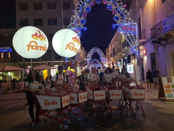 Attività di street marketing per Famila Manfredonia